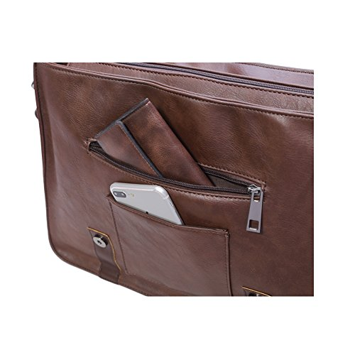 Berchirly PU Faux Leather Shoulder Messenger Bag