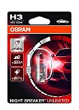 OSRAM NIGHT BREAKER UNLIMITED H3, Halogen-Scheinwerferlampe, 64151NBU-01B, 12V PKW, Einzelblister (1 Sück)