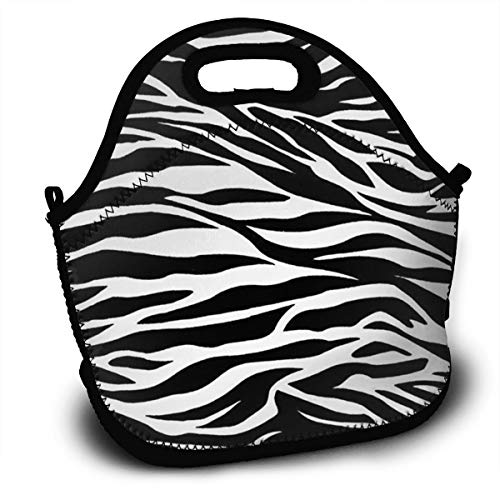 - Yisliferunaz Striped Zebra Horse Tiger Print Lunch Bag Portable Bento Bags Food Boxes Carry Case Tote Adults Kids Outdoor Multifunction Handbag Pouch for Picnic Travel School Office Trip Work