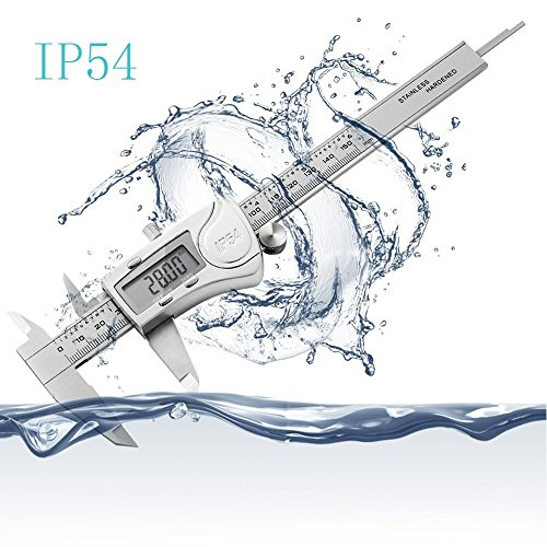 Digital Caliper, Taessv 6''/150mm Vernier Caliper Digital Stainless Steel Electronic Digital Caliper with Case LCD Screen IP54 Waterproof Gauge Quality for Durable Accurate Tool by taessv (Image #1)