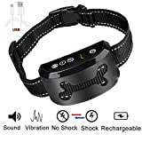 LibbyPet Anti Dog Barking Collar Upgrade 2018 – USB Rechargeable Harmless Vibration No Bark Collar Dog Training Device with 7 Sensitivity for Small Medium Large Dog (Smart Collar – Black) For Sale