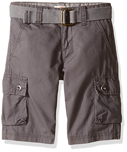 (Levi's Boys' Big Cargo Shorts, Eiffel Tower Grey, 10)