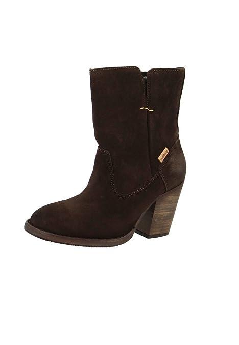 Levis Botines Botas Folsom talón de piel oscuro Marrón oscuro Marrón - 225120-715-29, LeviŽs Damen Schuhe:36: Amazon.es: Zapatos y complementos