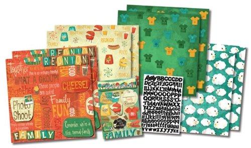 Karen Foster Design Themed Paper and Stickers Scrapbook Kit, Let's Get - Foster Karen Dog