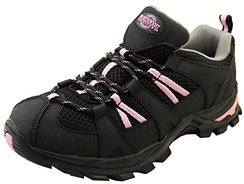 Mujer NORTHWEST TERRITORY caminando caminar zapatos impermeables Negro y Rosa