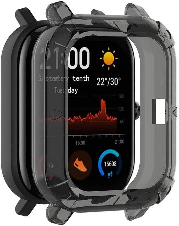 Protector Compatible con xiaomi huami Amazfit GTS riou Suave de TPU de Silicona Smartwatch Protector Funda de Protecci/ón Anti-Break y Anti-Crack Pel/ícula Protectora Fundas de Carcasa
