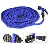 Speedcontrol Expendable Latex Garden Hose 100 Feet High Flexibility Water Hose with 8 Functions Spray Nozzle, Hose Hook Included