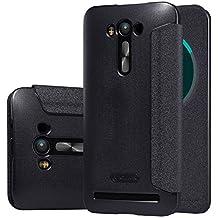 【MYLB】 PU flip Leather Cover Hard Phone Case Cover For asus zenfone 2 laser ZE550KL/ZE551KL smartphone (Black)