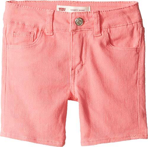 - Levi's Kids Baby Girl's Summer Love Midi Short (Toddler) Strawberry Pink Shorts