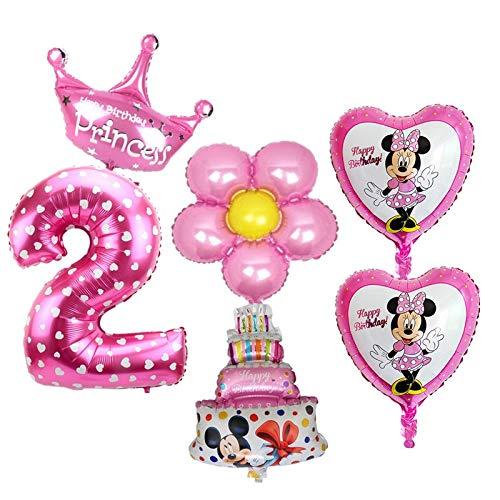 HXLF Decoraciones 6pcs / Set Globos de 2o cumpleaños Set ...