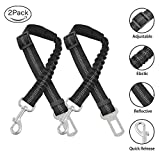 URIJK 2 Pack Dog Car Seat Belt, Adjustable Dog Seatbelt for Dog Harness Vehicle Car Pet Safety Belt Leash Leads with Durable Elastic Nylon Bungee Buffer for Shock Attenuation, Fits Small Medium Large Review
