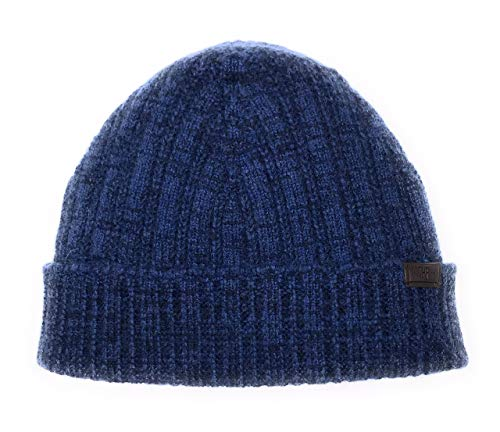 Hickey Freeman Navy - Hickey Freeman Men's Knit Cashmere Hat - Navy and Denim Blue Mix Color, 100% Italian Cashmere, Made in Italy