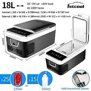 Nevera Portátil De Compresor 18L,Control De Temperatura ...