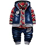 Best Baby Springs - YAO Spring Autumn Baby Boys 3pcs Clothing Set Review