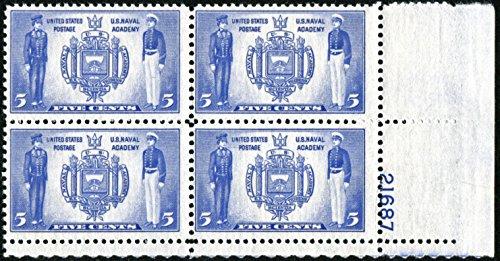 Seal of U.S. Naval Academy & Naval Midshipmen Stamp ~ USNA #794 Plate Block of 4 US Postage Stamps