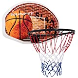 oldzon Wall Mounted Fan Backboard with Basketball Hoop and Rim With Ebook