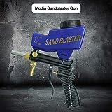 Dappre Sandblaster Sand Gun Blaster Siphon Kit de Tubo de Metal Soda Blaster Media Sandblaster