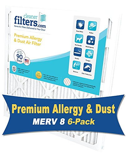 CleanerFilters 16x24x1 Air Filter (6-Pack) MERV 8 Premium Allergy AC Furnace Filter
