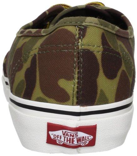 Vans U Authentic, Zapatillas para Mujer Verde (waxed canvas)