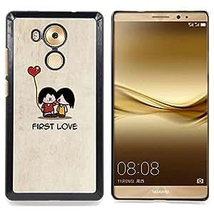 - Cartoon Minimalist Beige Cute Heart/ Duro Snap en el tel????fono celular de la cubierta - Cao - For Huawei Mate 8