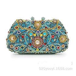 Bi-shell Rhinestone Clutch Handbag