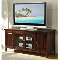 Acme Chic Modern Chocolate Finish TV Stand