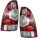 Driver and Passenger Taillights Tail Lamps w/ LED Center Lens Replacement for Toyota Pickup Truck 8156004160 8155004160