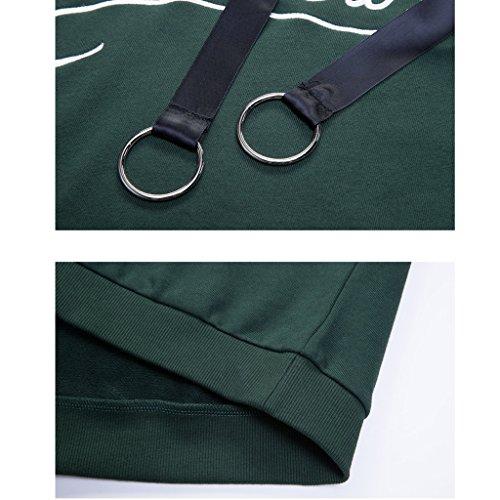 Caldo Cappotto Con E S Inverno Autunno Colore Lunghe Stagione Tenere Confortevole Ragazza Verde Dimensioni Cappuccio Lime Maniche Felpa XwxPBB