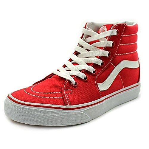 9c4defc73f9e Vans SK8-HI (Canvas) Formula One Red White Sneakers VN-0TS9GYK (Men 7.0  Women 8.5) (B00RPQSS4W)