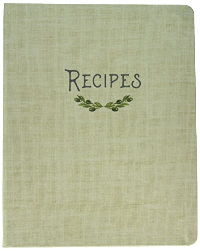 C.R. Gibson QMR-20819 Recipe Binder, 7.25'' x 9'', Olive by C.R. Gibson