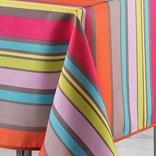 Le Jardin Des Cigales Marina Nappe Rectangulaire Polyester Multicolore 240 X 150 Cm
