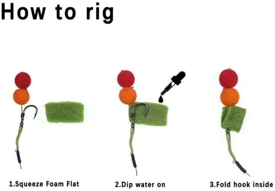 50 Pcs Fishing PVA Dissolving Foam Carp Coloured Nuggets Rig Foam Pop Up Water Soluble Block Fishing Carp Dissolving Pop Up Foams