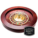 Casino Grade Deluxe Wooden Mahogany Roulette Wheel - 18 Inch Diameter!