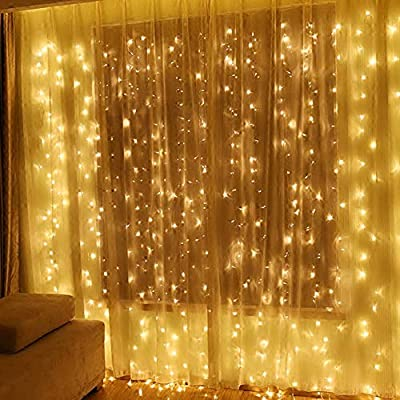 Twinkle Star 600 LED Window Curtain String Light Wedding Party Home Garden Bedroom Outdoor Indoor Wall