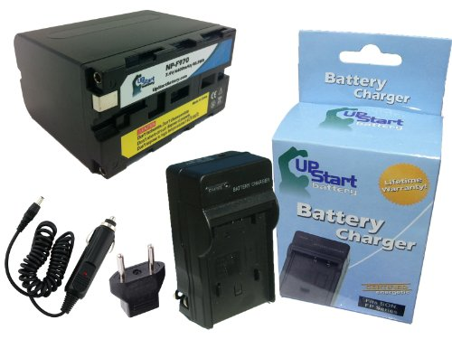 Sony CCD-SC9 Battery and Charger with Car Plug and EU Adapter - High Capacity Replacement for Sony NP-F970 Digital Camera Batteries and Chargers (1240mAh, 3.7V, Lithium-Ion)