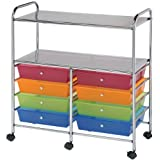 Silhouette Of America Blue Hills Studio Double Storage/Utility Cart with 8-Drawers