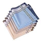 Men's Handkerchief,100% Cotton Classic Hankies (color 1)