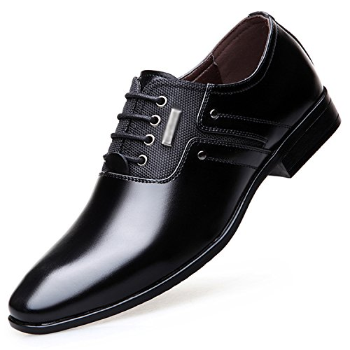 Esthesis Herren Kleid Formale Schuhe Lace-up Business Oxford Schuhe Hochzeit Spitze Schuhe Schwarz