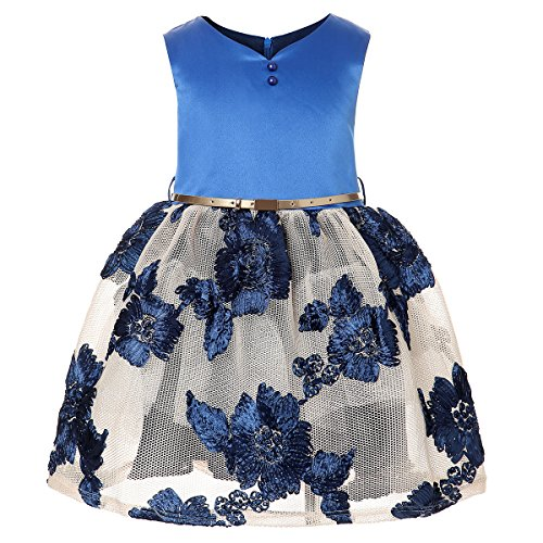ZaH Girl Dress Kids Ruffles Lace Party Wedding Bridesmaid Dresses