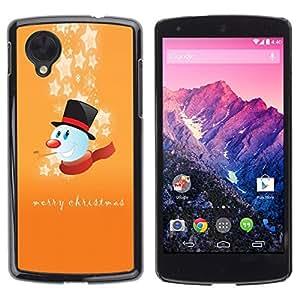 YOYO Slim PC / Aluminium Case Cover Armor Shell Portection //Christmas Holiday Merry Happy Snowman 1198 //LG Google Nexus 5