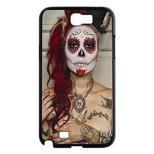 Diy Cool Sugar Skull Custom Cover Phone Case for samsung galaxy note 2 Black Shell Phone [Pattern-6]