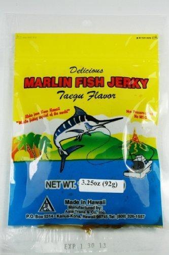 Hawaiian Marlin Fish Jerky Taegu 2.75 Oz by Hawaii Snacks