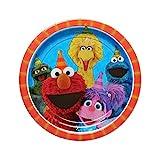 "American Greetings Sesame Street 9"" Round Plate (8 Count)"