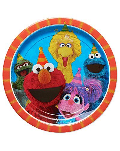 American Greetings Sesame Street Paper Dinner Plates, 8-Count