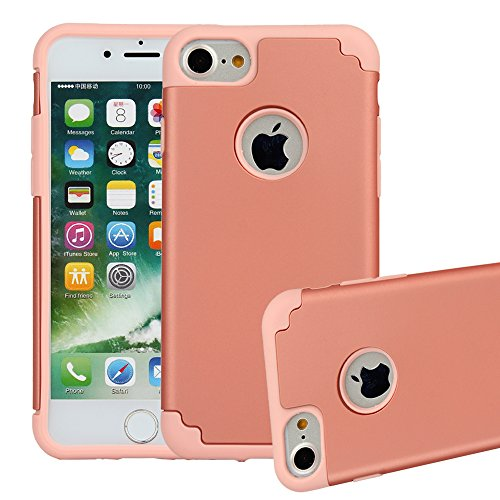 iPhone 7 Case,ibarbe Slim Premium Shock Absorption Plastic Rubber Silicone Bumper Cushion Scratch Resistant Protective Cases Hard Cover for Apple iPhone 7 2016