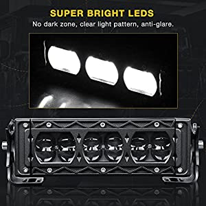 "DWVO 54W 8"" LED Light Bar Fish Eye 4D 5400LM Spot Beam Work Lamp with Wiring Harness, 3 Year Warranty"