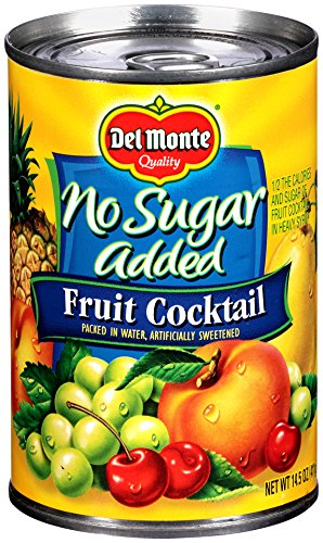Del Monte Canned Fruit Cocktail, No Sugar Added, 14.5-Ounce (Pack of 12)