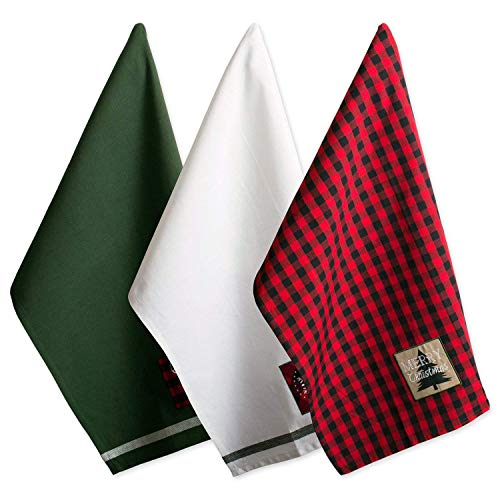 DII Cotton Christmas Holiday Dish Towels, 18x28