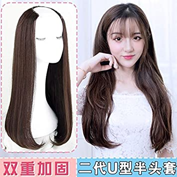 Amazon com : South Korean net red hot air corn noodles bangs wig