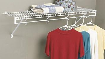 Marvelous Amazon.com: Rubbermaid 3D4800WHT FreeSlide Closet Shelf Kit, 4 Feet, White:  Home U0026 Kitchen